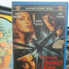 Cine: LA NOCHE DE LOS CRISTALES ROTOS - WOLFGANG PETERSEN - TOM BERENGER , GRETA SCACCHI - WARNER 1992. Lote 295489978