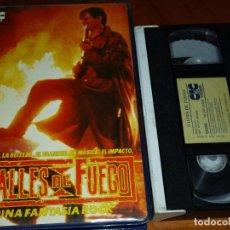 Cine: CALLES DE FUEGO - WALTER HILL, MICHAEL PARE, DIANE LANE - 1ª EDICIÓN CIC CAJA GRANDE - VHS. Lote 297093278
