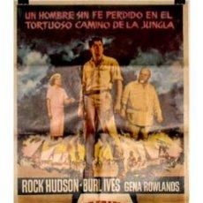 Cine: CARTEL DE CINE CAMINO DE LA JUNGLA CON ROCK HUDSON. Lote 8529017