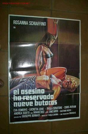EL ASESINO HA RESERVADO NUEVE BUTACA (Cine - Posters y Carteles - Suspense)