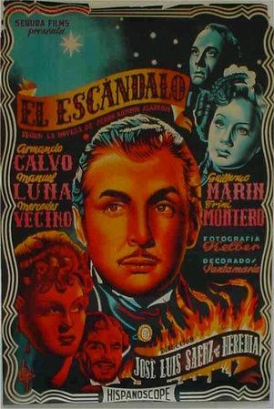 CARTEL CINE EL ESCANDALO LITOGRAFIOC 1936, ORIGINAL (Cine- Posters y Carteles - Drama)