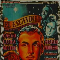 Cine: CARTEL CINE EL ESCANDALO LITOGRAFIOC 1936, ORIGINAL. Lote 23943823