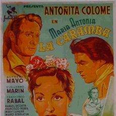 Cine: CARTEL CINE LA CARAMBA , LITOGRAFIA , ORIGINAL. Lote 15746585