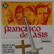 Cine: CARTEL CINE FRANCISCO DE ASIS , ILUSTRADO POR SOLIGO. Lote 37362422