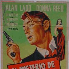 Cine: CARTEL CINE EL MISTERIO DE UNA DESCONOCIDA ,ORIGINAL. Lote 21394077
