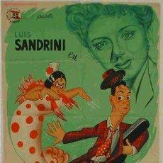 Cine: CARTEL CINE MALDICION GITANA. Lote 19525641