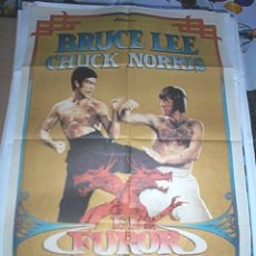 Cine: BRUCE LEE EN EL FUROR DEL DRAGÓN CON CHUCK NORRIS. Lote 62290735