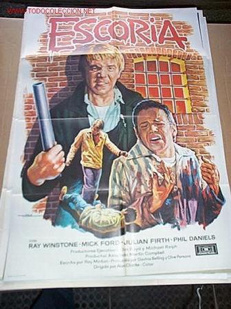 POSTER ORIGINAL DE CINE 70X100CM ESCORIA (Cine - Posters y Carteles - Acción)
