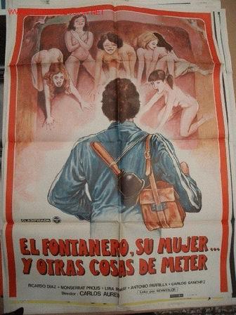 PÓSTER ORIGINAL DE 100X70CM EL FONTANERO SU MUJER Y OTRAS COSAS DE METER (Cine - Posters y Carteles - Comedia)
