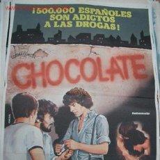 Cine: PÓSTER ORIGINAL DE CINE 70X100CM CHOCOLATE. Lote 13337720