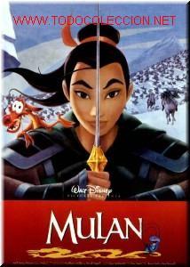 MULAN.DISNEY.RARE POSTER.RARE POSTER.1998 (Cine - Posters y Carteles - Infantil)