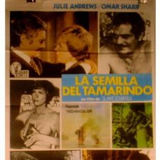 Cine: CARTEL LA SEMILLA DEL TAMARINDO CON OMAR SHARIF Y JULIE ANDREWS. Lote 14038597