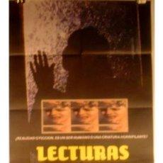 Cine: ANTIGUO CARTEL DE CINE LECTURAS DIABOLICAS - TERROR. Lote 1002379