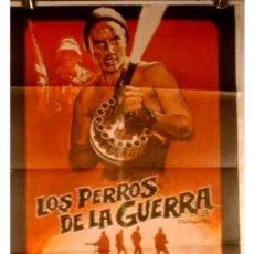 Cine: ANTIGUO CARTEL DE CINE LOS PERROS DE LA GUERRA. Lote 895530