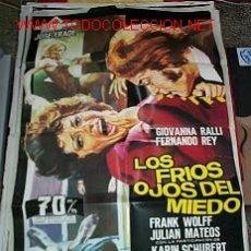 Cine: LOS FRÍOS OJOS DEL MIEDO POSTER ORIGINAL DE 70X100CM. Lote 12028562