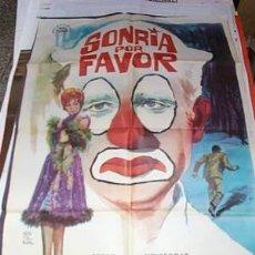 Cine: SONRÍA POR FAVOR POSTER DE 70X1000CM DE1964. Lote 19414423