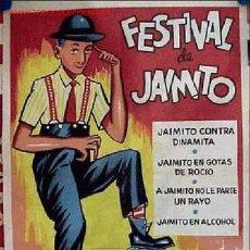 Cine: CARTEL FESTIVAL DE JAIMITO, AÑO 1964 - CARTEL LITOGRAFICO. Lote 27185388