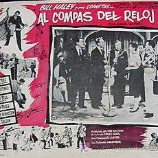 Cine: AL COMPAS DEL RELOJ - BILL HALLEY AND HIS COMETS - ROCK´N´ROLL - THE PLATTERS - LOBBY CARD ORIGINAL. Lote 3152146