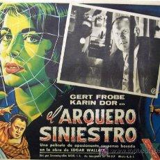 Cine: EL ARQUERO SINIESTRO - GERT FROBE - KARIN DOR - EDGAR WALLACE - LOBBY CARD ORIGINAL MEXICANO. Lote 13723253