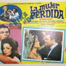 Cine: SARA MONTIEL - LA MUJER PERDIDA - MASSIMO SERATO - LOBBY CARD ORIGINAL MEXICANO . Lote 59164806