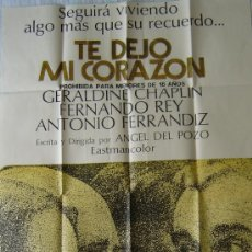 Cine: CARTEL DE LA PELICULA: TE DEJO MI CORAZON. DE 67 X 105 CMS.. Lote 13230650