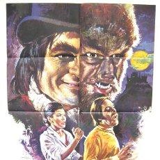 Cine: CARTEL CINE DR. JEKYLL Y EL HOMBRE LOBO , TERROR 1972 ILUSTRADO POR MAC. Lote 16026536