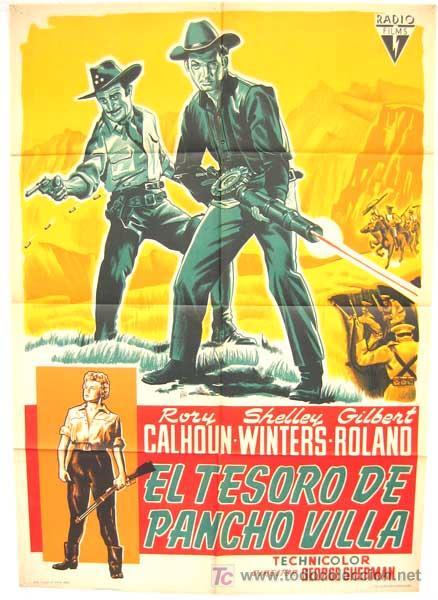 CARTEL CINE EL TESORO DE PANCHO VILLA 1960 ,LITOGRAFIA (Cine - Posters y Carteles - Westerns)