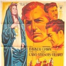 Cine: CARTEL CINE EL SECRETO DE LOS HOMBRES AZULES ,1961, POR LLOAN ,LITOGRAFIA. Lote 19525624