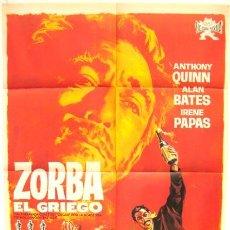 Cine: CARTEL CINE ZORBA EL GRIEGO, 1965, ANTHONY QUINN. Lote 16026547