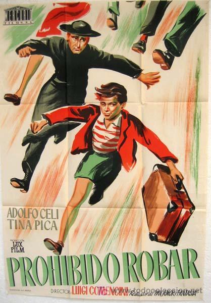 CARTEL CINE PROHIBIDO ROBAR , AÑOS 50, LITOGRAFIA (Cine - Posters y Carteles - Comedia)