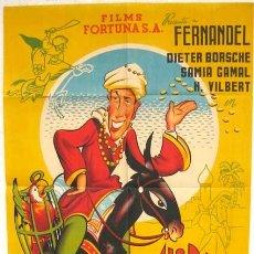 Cine: CARTEL CINE ALI - BABA , AÑOS 40-50, FERNANDEL , LITOGRAFIA, POR PERIS. Lote 15746587