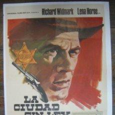 Cine: CARTEL LA CIUDAD SIN LEY - RICHARD WIDMARK, LENA HORNE - AÑO 1969. Lote 27185369