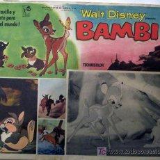 Cine: WALT DISNEY - BAMBI - ORIGINAL MEXICANO LOBBY CARD. Lote 16100328