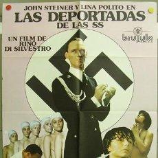 Cine: T00113 LAS DEPORTADAS DE LAS SS SEXPLOITATION POSTER ORIGINAL DEL ESTRENO 70X100. Lote 4522689