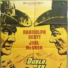 Cine: T00150 DUELO EN LA ALTA SIERRA SAM PECKINPAH RANDOLPH SCOTT JOEL MCCREA POSTER ORIG ESTRENO 70X100. Lote 12995693