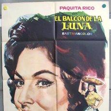 Cine: T00170 EL BALCON DE LA LUNA PAQUITA RICO RETRATO JANO POSTER ORIGINAL DEL ESTRENO 70X100. Lote 11864544