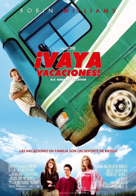 '¡VAYA VACACIONES!', CON ROBIN WILLIAMS. (Cine - Posters y Carteles - Comedia)