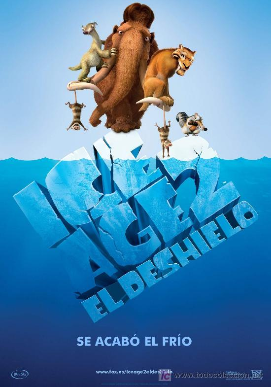 'ICE AGE 2- EL DESHIELO'. ANIMACIÓN. (Cine - Posters y Carteles - Infantil)