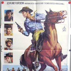 Cine: T00380 EL SHERIFF IMPLACABLE EDMUND PURDOM SPAGHETTI SOLIGO POSTER ORIGINAL 70X100 DEL ESTRENO. Lote 3848647