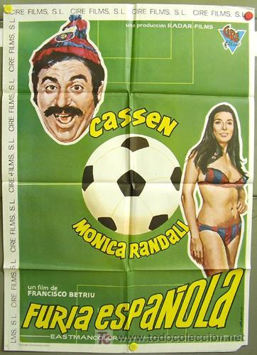 T00411 FURIA ESPAÑOLA CASSEN BETRIU FC BARCELONA FUTBOL POSTER ORIGINAL 70X100 DEL ESTRENO (Cine - Posters y Carteles - Deportes)