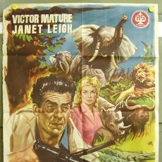 Cine: T00494 SAFARI VICTOR MATURE JANET LEIGH POSTER ORIGINAL 70X100 DEL ESTRENO. Lote 12995711