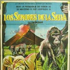 Cine: T00500 LOS SEÑORES DE LA SELVA POSTER ORIGINAL 70X100 DEL ESTRENO LITOGRAFIA. Lote 3887225