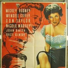 Cine: T00506 AMANECER SANGRIENTO MICKEY ROONEY WENDELL COREY MCP POSTER 3 HOJAS 100X205 ESTREN LITOGRAFIA. Lote 7894015