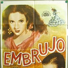 Cine: T00462 EMBRUJO LOLA FLORES MANOLO CARACOL POSTER ORIGINAL 70X100. Lote 8571620