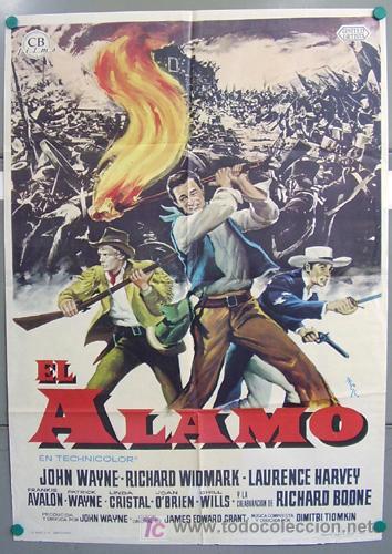 T00621 EL ALAMO JOHN WAYNE POSTER ORIGINAL 70X100 DEL ESTRENO (Cine - Posters y Carteles - Westerns)