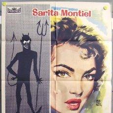Cine: T00565 ELLA LUCIFER Y YO SARA MONTIEL MONTALBAN POSTER ORIGINAL 70X100 ESTRENO. Lote 11445614