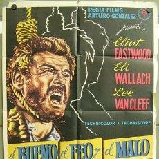 Cine: YP24D EL BUENO EL FEO Y EL MALO SERGIO LEONE CLINT EASTWOOD POSTER ORIGINAL 70X100 DEL ESTRENO B. Lote 18883573