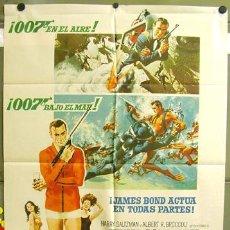 Cine: T00601 OPERACION TRUENO THUNDERBALL JAMES BOND 007 SEAN CONNERY POSTER ORIGINAL 70X100 DEL ESTRENO. Lote 13035809