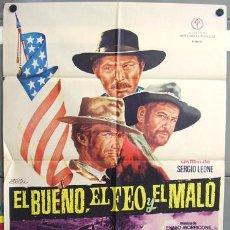 Cine: T00603 EL BUENO EL FEO Y EL MALO SERGIO LEONE CLINT EASTWOOD POSTER ORIGINAL 70X100 DEL ESTRENO A. Lote 22289184