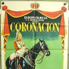 Cine: T00605 CORONACION DE LA REINA ISABEL POSTER ORIGINAL 70X100 DEL ESTRENO LITOGRAFIA. Lote 3929205